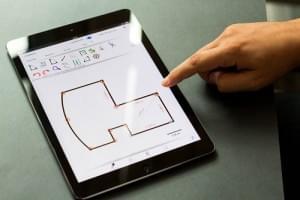 Create floorplan on ipad